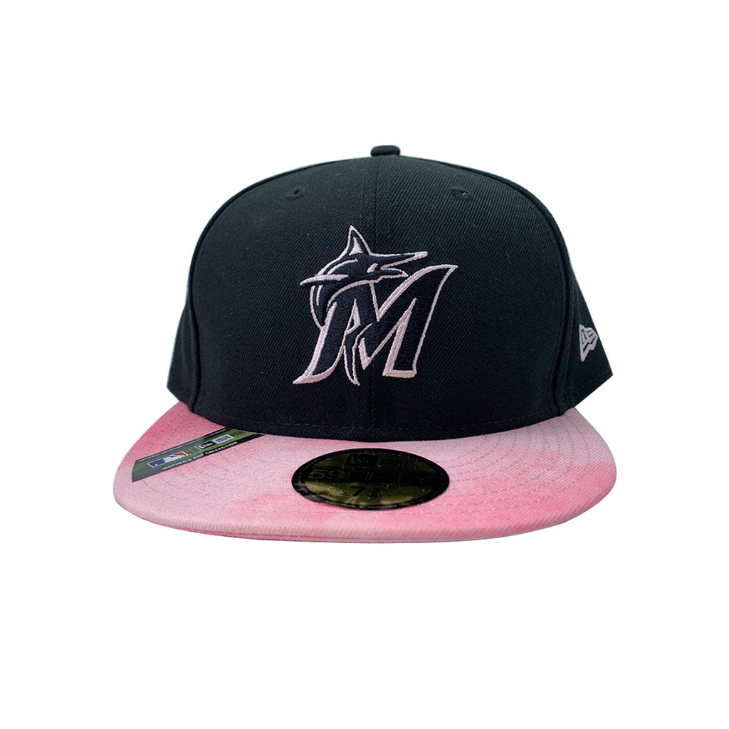 New Era 59FIFTY Miami Marlins 2019 MLB Mother's Day On-Field Black Fitted Cap - KickzStore