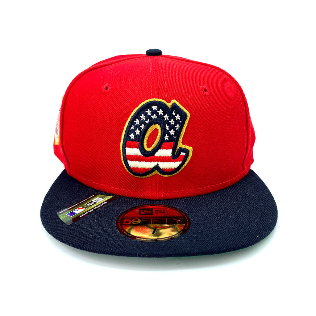 New Era 59FIFTY Atlanta Braves MLB 2019 4th of July Stars 7 Stripes Fitted Hat - KickzStore