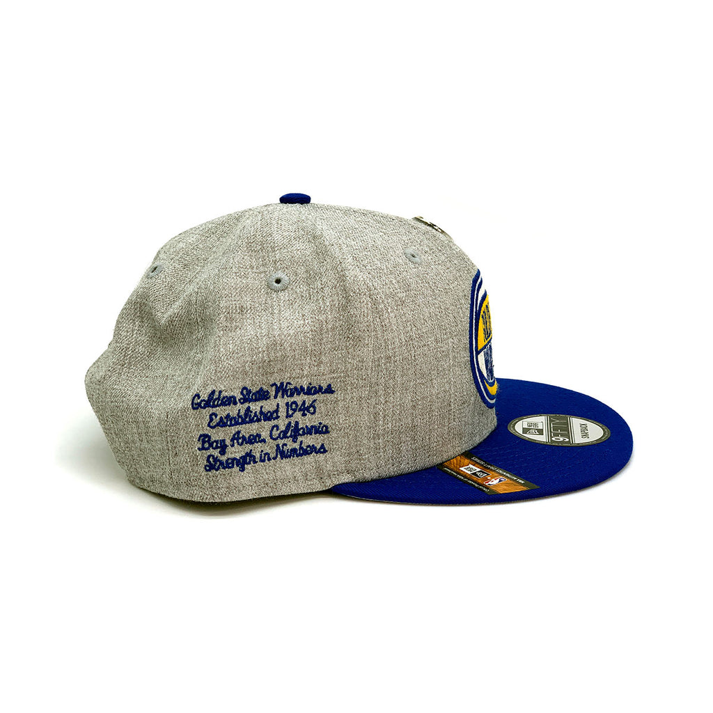 New Era 9FIFTY Golden State Warriors Snapback Hat Gray Blue Yellow - KickzStore