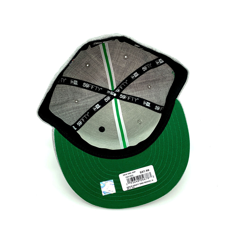 New Era 59FIFTY Draft Boston Celtics Snapback Hat Gray Green