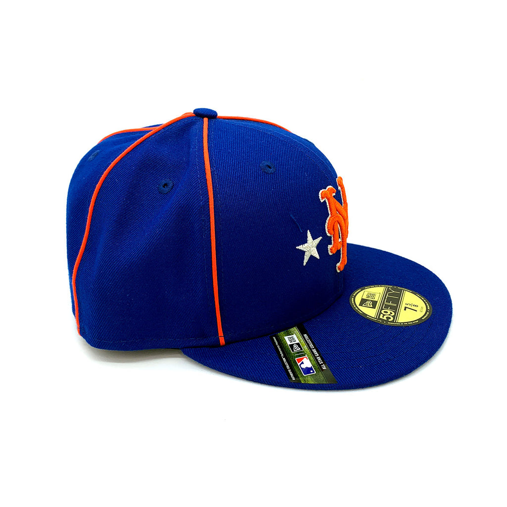 New Era 59FIFTY New York Mets Fitted Hat Blue Orange - KickzStore