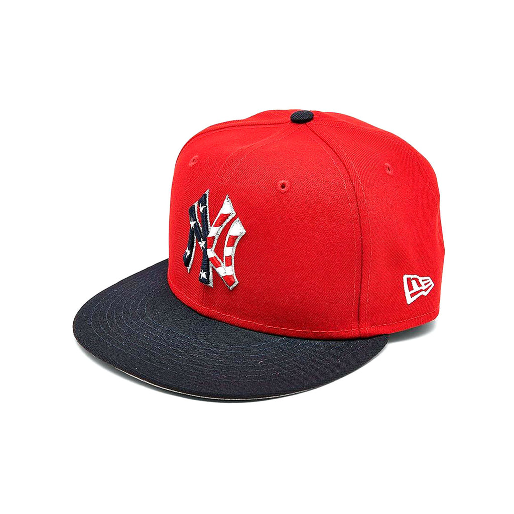 New Era 9FIFTY New York Yankees MLB Stars And Stripes Snapback Hat Red - KickzStore