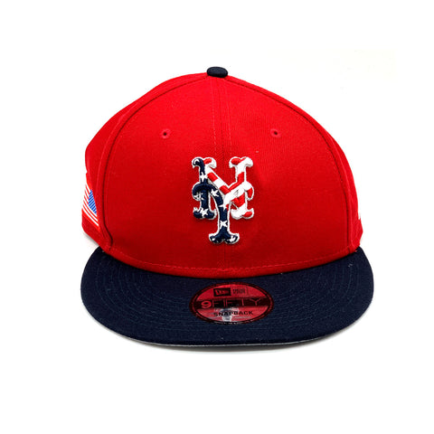 New Era 9FIFTY New York Mets MLB Stars And Stripes Snapback Hat Red