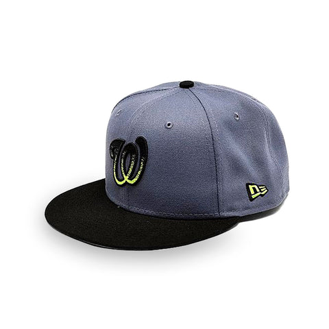 New Era Washington Nationals MLB Slate Black 9FIFTY Snapback Hat