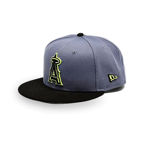 New Era Anaheim Angels MLB Slate Black 9FIFTY Snapback Hat - KickzStore