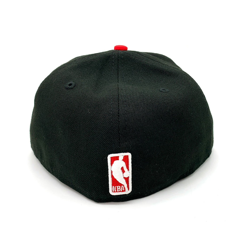 New Era 59FIFTY Chicago Bulls Fitted Hat Black Red