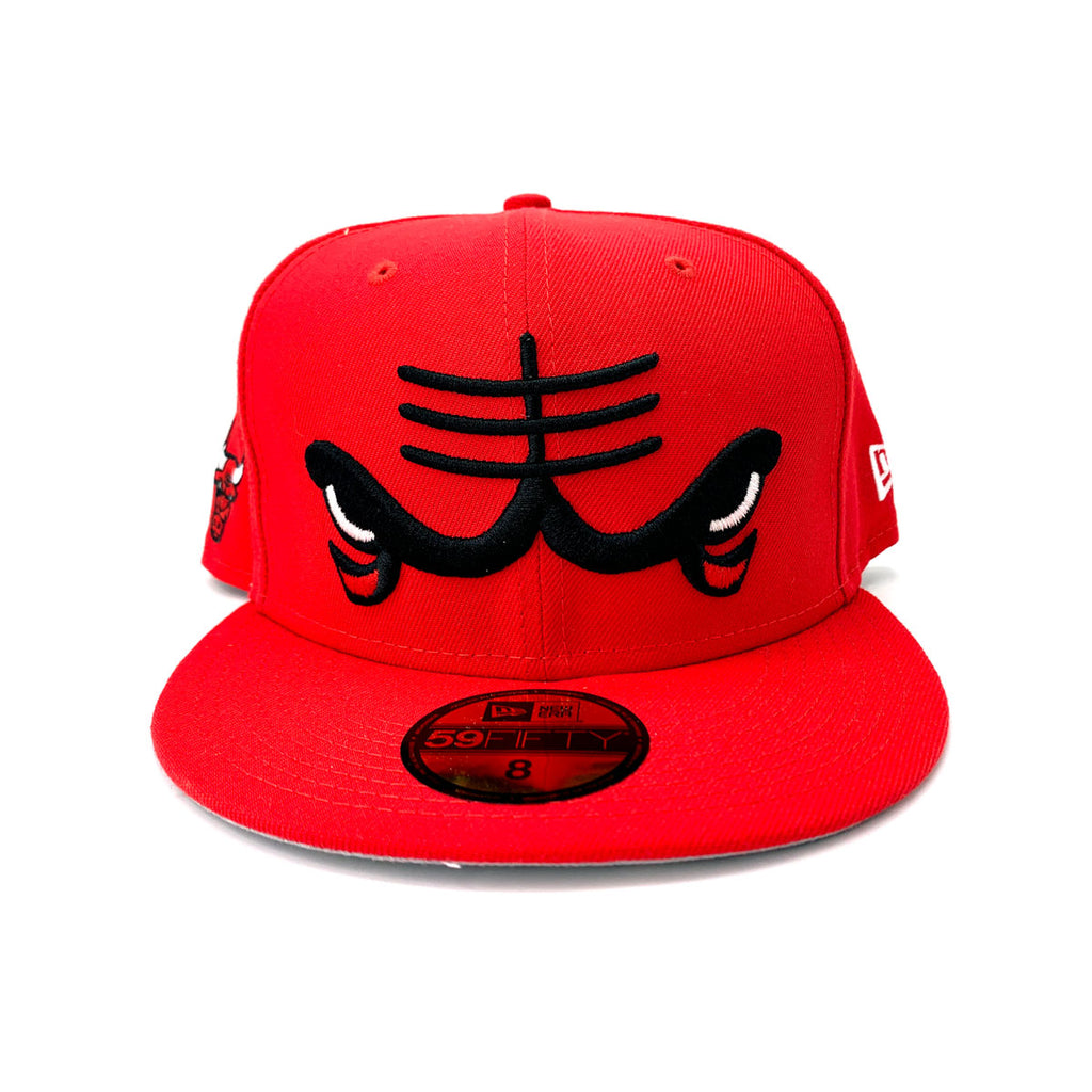 New Era 9FIFTY Chicago Bulls Dissected Logo Red Fitted Hat