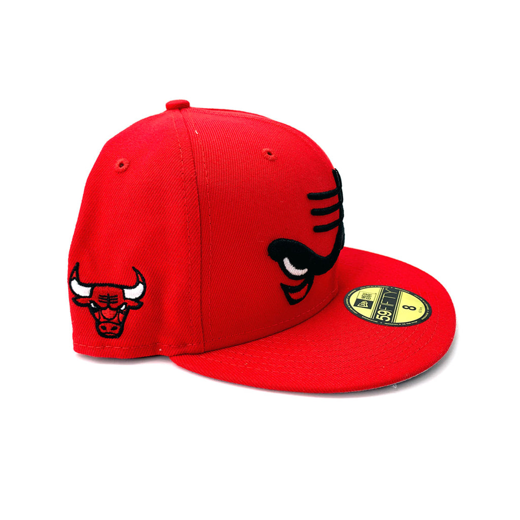 New Era 9FIFTY Chicago Bulls Dissected Logo Red Fitted Hat - KickzStore