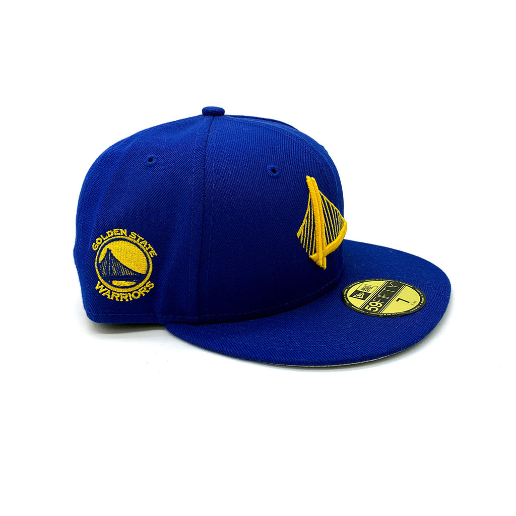 New Era 59FIFTY Golden State Warriors Fitted Hat Blue Yellow