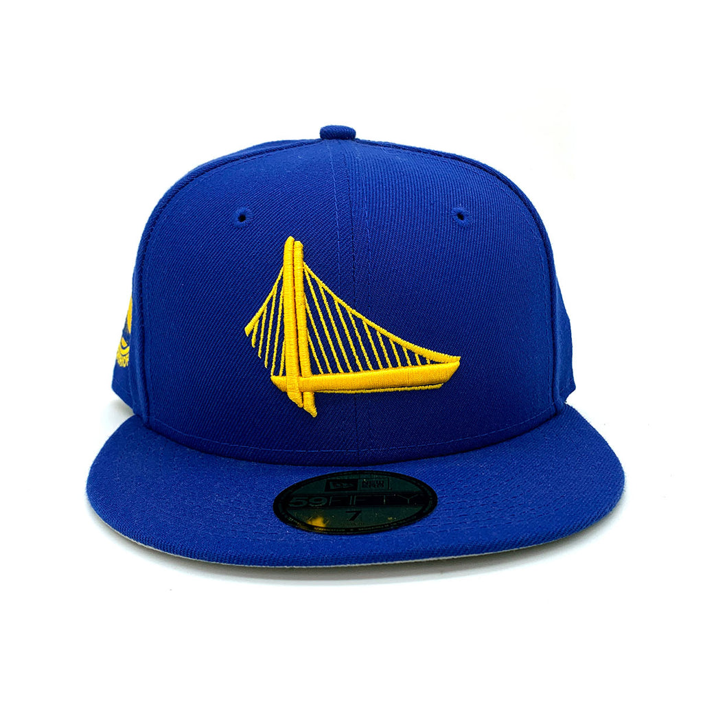 New Era 59FIFTY Golden State Warriors Fitted Hat Blue Yellow - KickzStore
