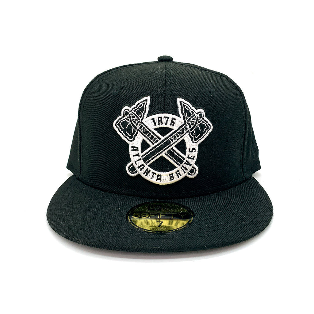 New Era 59FIFTY Atlanta Braves 1876 Fitted Hat Black - KickzStore