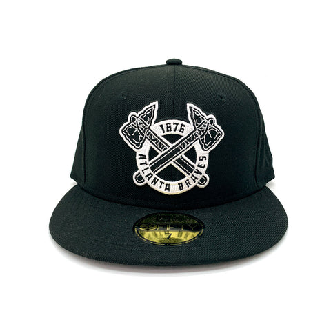 New Era 59FIFTY Atlanta Braves 1876 Fitted Hat Black