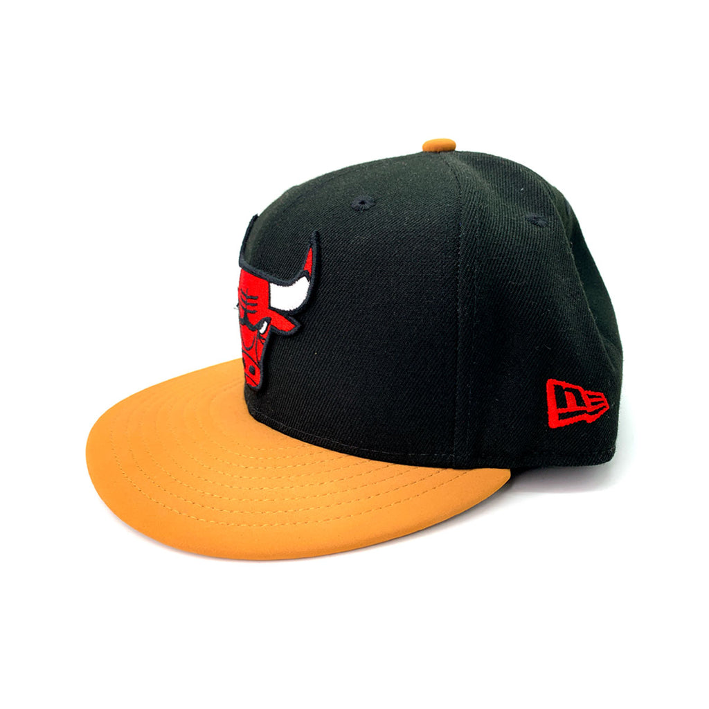 New Era 9FIFTY Chicago Bulls Team Hook Black Fitted Hat - KickzStore
