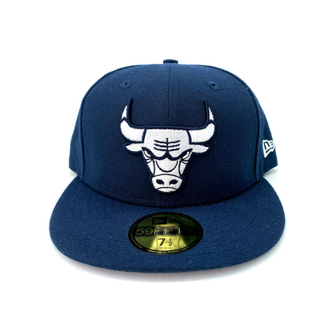 New Era 9FIFTY Chicago Bulls Fresh Hook Navy Blue Fitted Hat - KickzStore