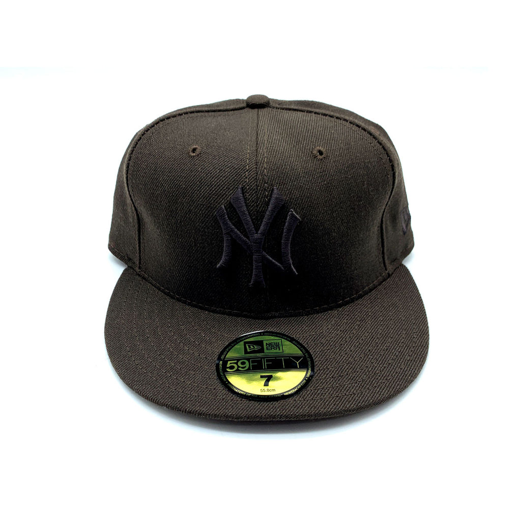 New Era 59FIFTY New York Yankee Brown On Brown Fitted Hat