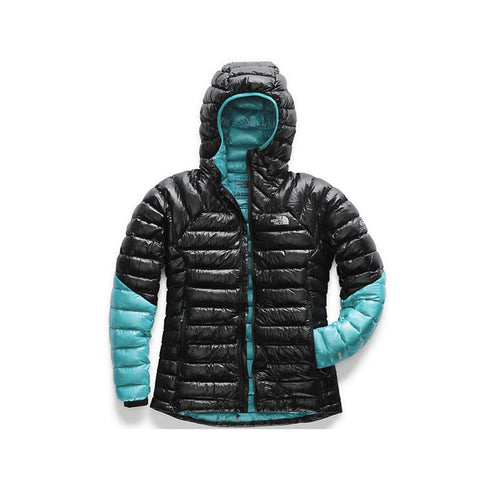 The North Face Women's Summit L3 Down Hoodie Coat Black Blue