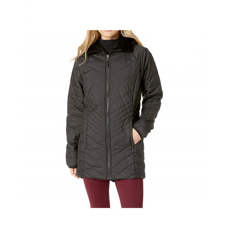The North Face Women's Mossbud Insulated Reversible Urban Navy Hooded Parka Coat