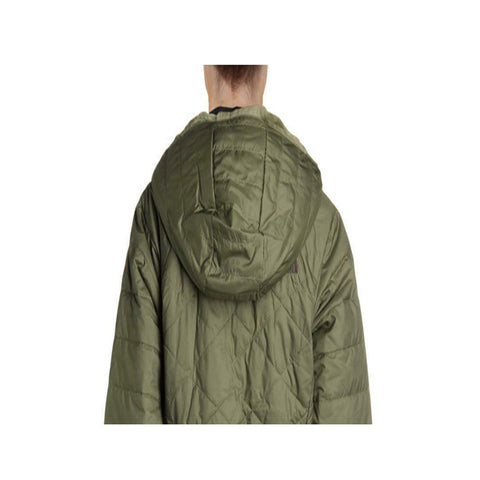 The North Face Women's Mossbud Insulated Reversible Green Hooded Parka Coat