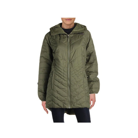 The North Face Women's Mossbud Insulated Reversible Green Hooded Parka Coat - KickzStore