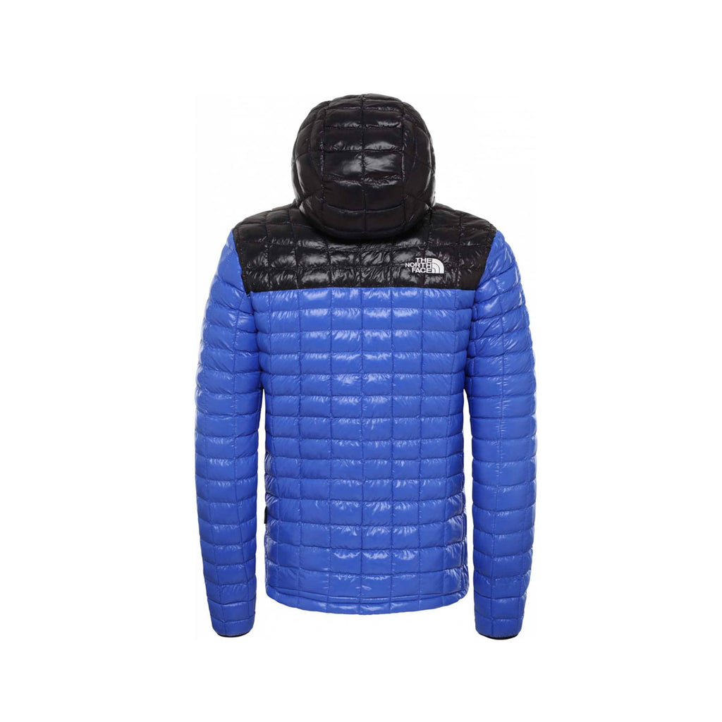 The North Face Men's Thermoball Eco Hooded Down Packable Jacket TNF Blue Black