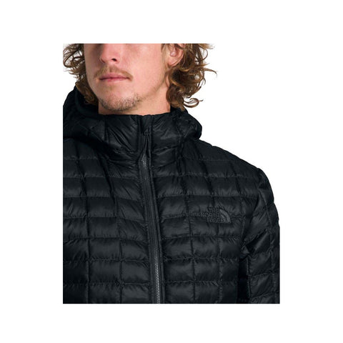The North Face Men's Thermoball Eco Hooded Down Packable Jacket TNF Black Matte
