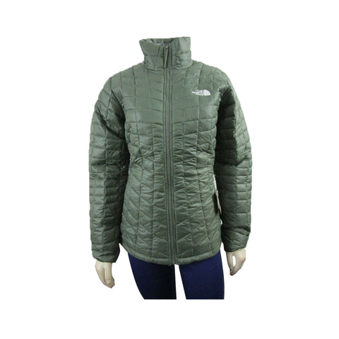 The North Face Women's ThermoBall Full Zip Jacket Olive Green - KickzStore