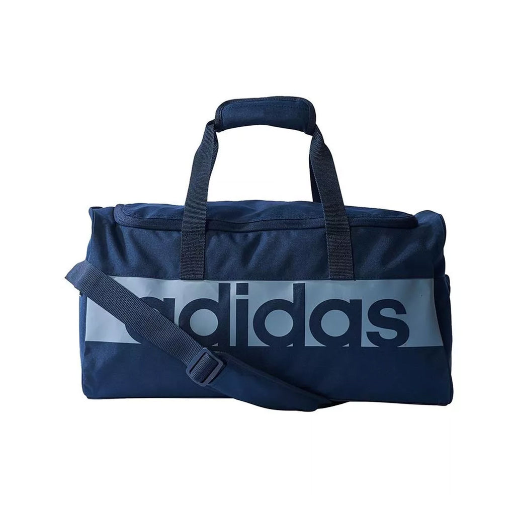 Adidas Originals Linear Logo Performance Sport Teambag Navy Duffle Gym Bag - KickzStore