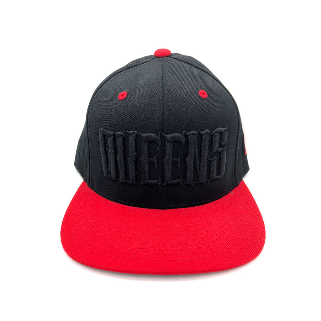 Starter Cap Queens NYC Black And Red Snapback Hat - KickzStore