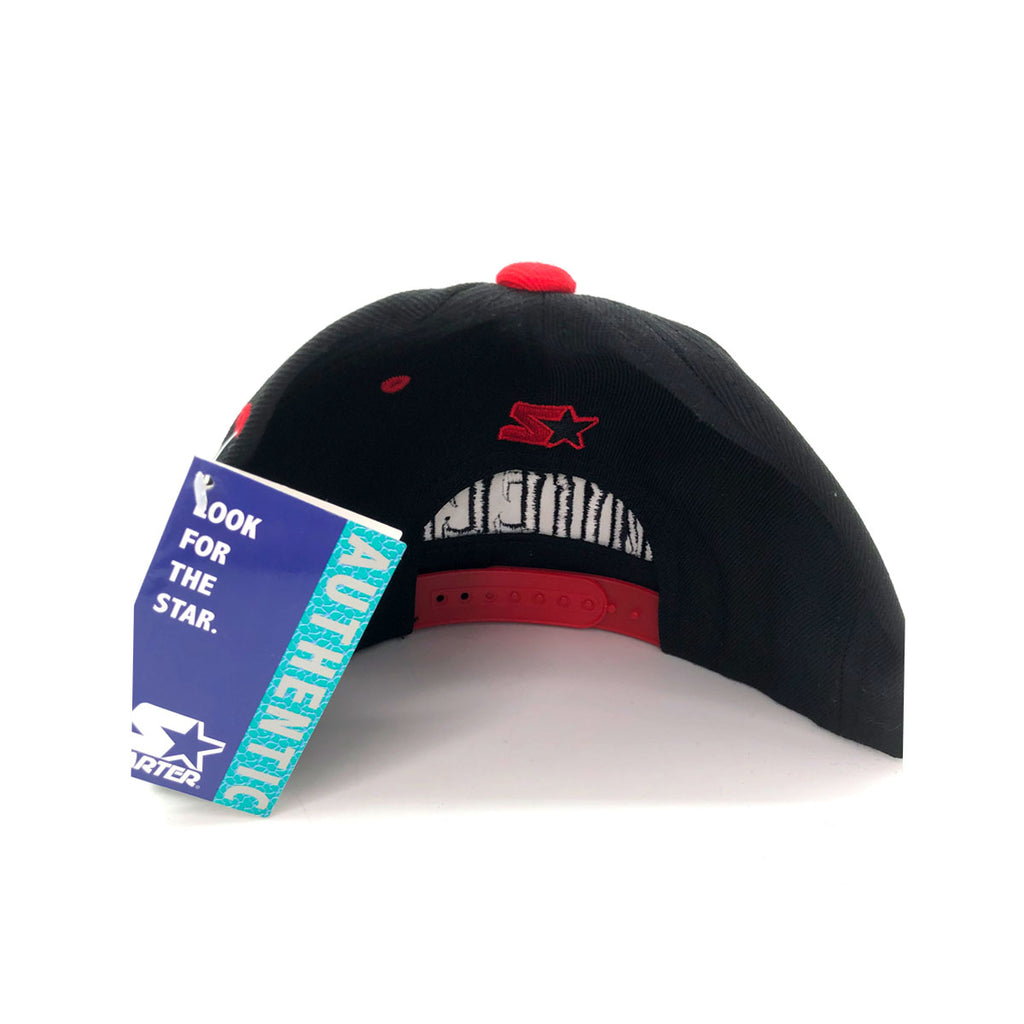 Starter Cap Queens NYC Black And Red Snapback Hat