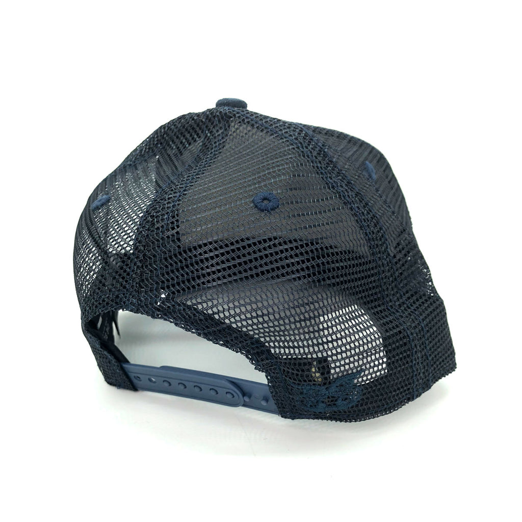 New Era x Secret Society Quilted Leather Mesh 9Fifty Snapback Hat Navy