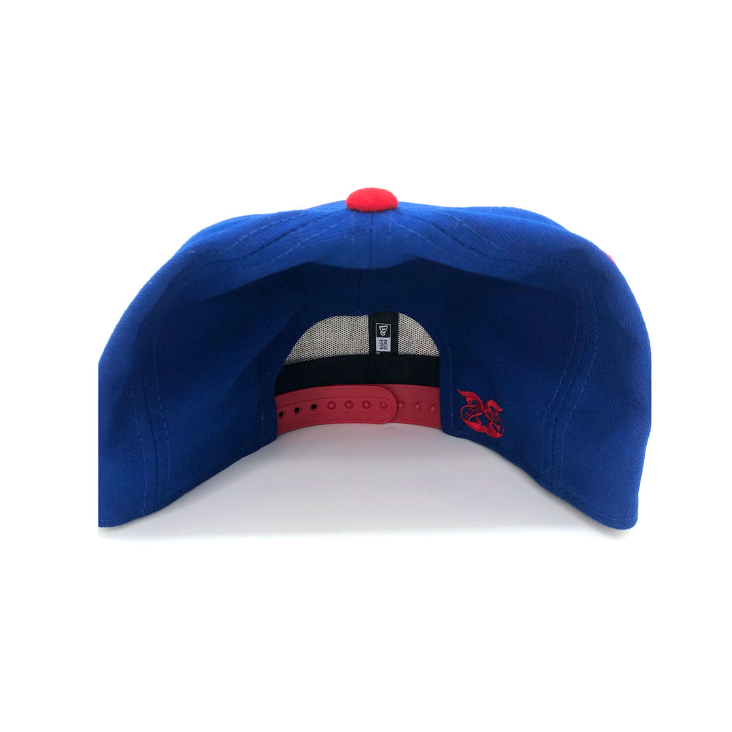 New Era x Secret Society New York 9FIFTY Snapback Hat Blue Red