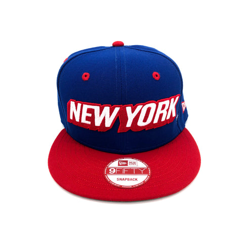 New Era x Secret Society New York 9FIFTY Snapback Hat Blue Red - KickzStore