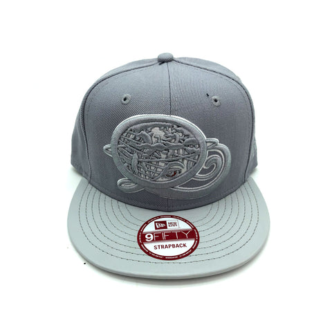 New Era x Secret Society Q-Globe Queens Gray 9FIFTY Strapback Hat - KickzStore