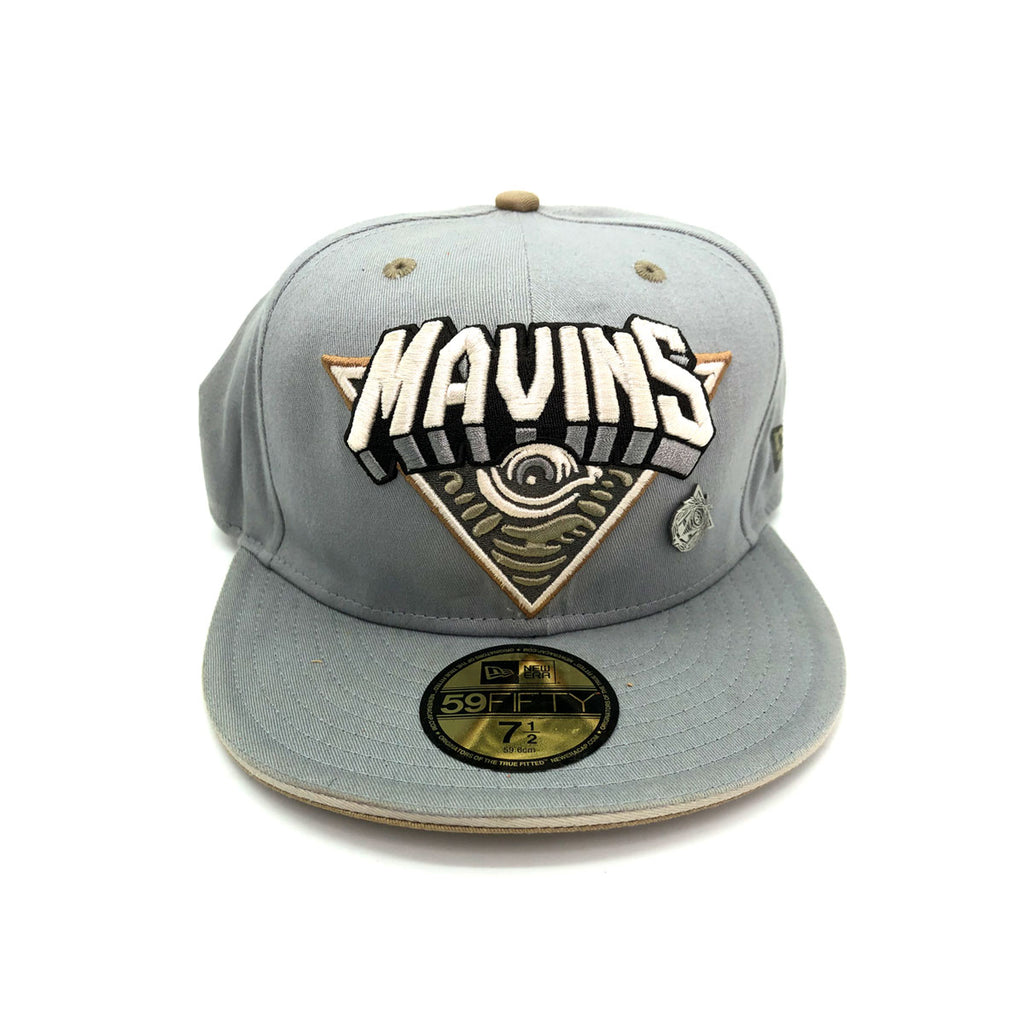 New Era x Secret Society 59FIFTY Mavens Logo Fitted Hat Gray Gold