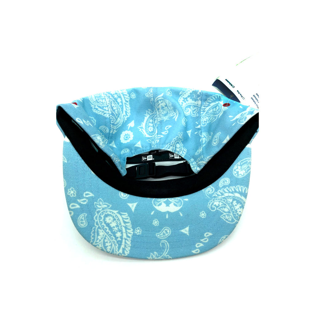 New Era x Secret Society Light Blue Flag 5 Panel Camper Strapback Hat Light Blue - KickzStore