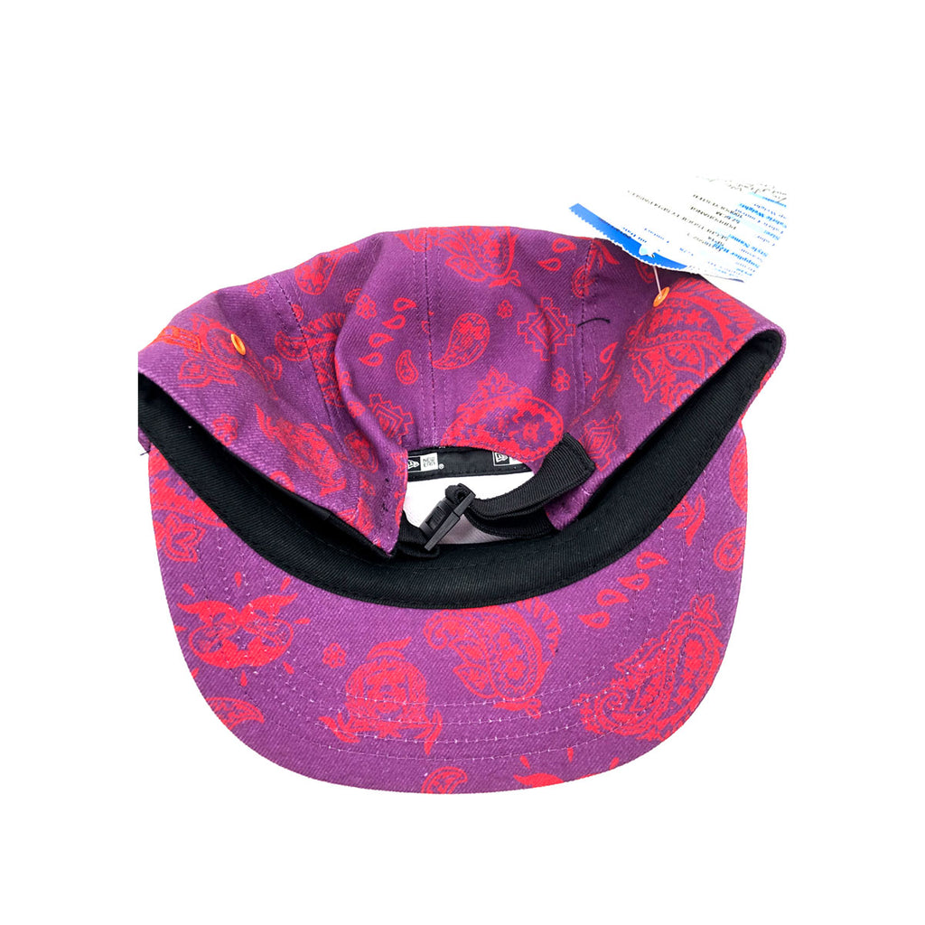 New Era x Secret Society Purple 5 Panel Camper Strapback Hat Purple Red