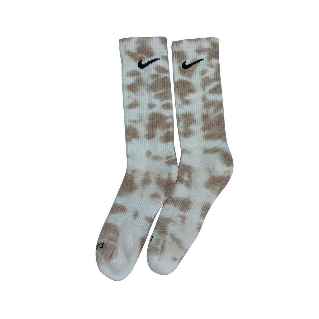 Nike Dri-Fit Tie Die Creme White Socks