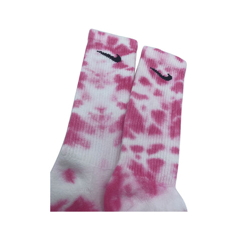 Nike Dri-Fit Tie Dye Hot Pink White Socks - KickzStore