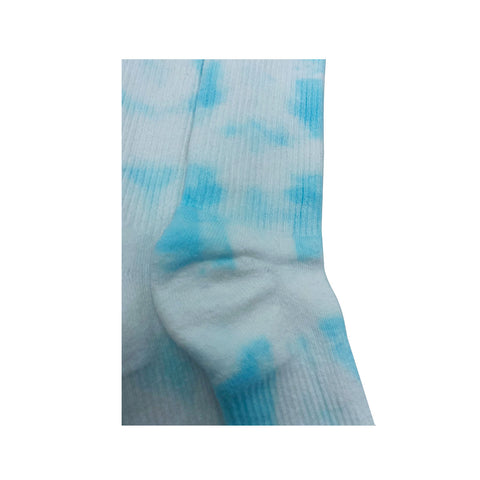 Nike Dri-Fit Tie Dye Ice Blue White Socks