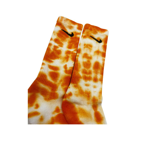Nike Dri-Fit Tie Dye Orange White Socks - KickzStore