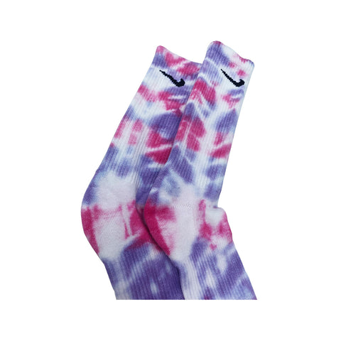 Nike Dri-Fit Tie Dye Pink Purple White Socks - KickzStore