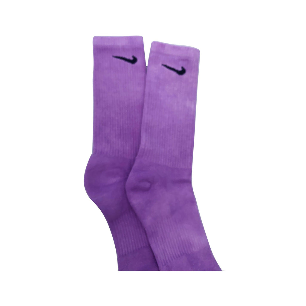 Nike Dri-Fit Tie Dye Solid Purple Socks - KickzStore