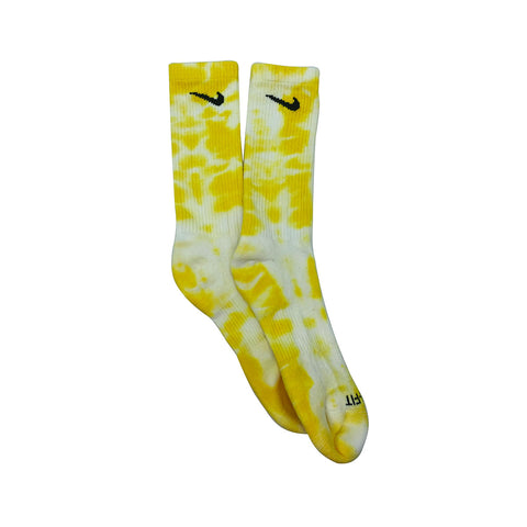 Nike Dri-Fit Tie Dye Yellow White Socks - KickzStore