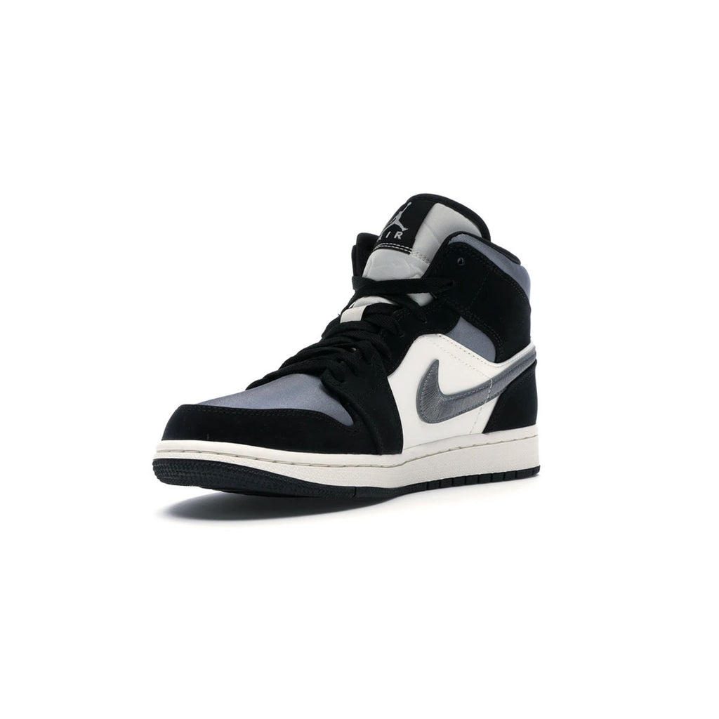 Air Jordan 1 Men's Mid Satin Grey Toe - KickzStore
