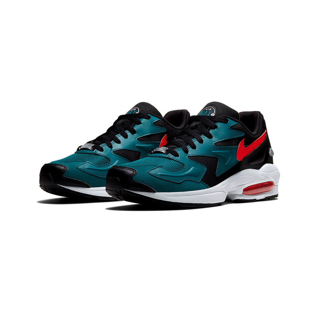 Nike Air Max 2 Light Black Teal Habanero Red