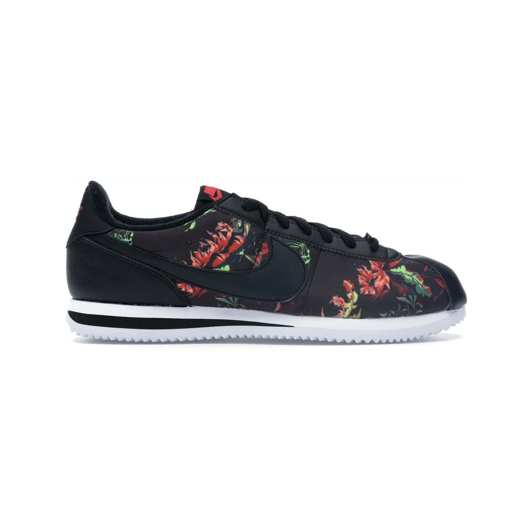 Nike Men's Cortez Basic 'Floral' Black Red - KickzStore