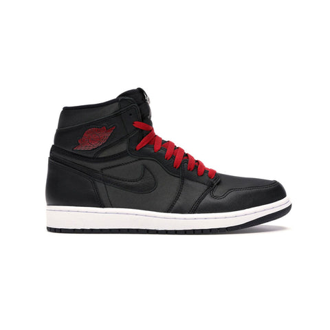 "Air Jordan Men's  1 ""Black Satin"" Black Gym Red"