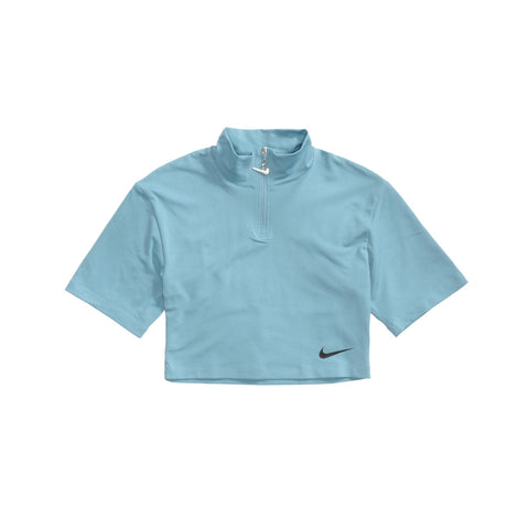 Nike Women's NSW Swoosh Mock Top Cerulean Black