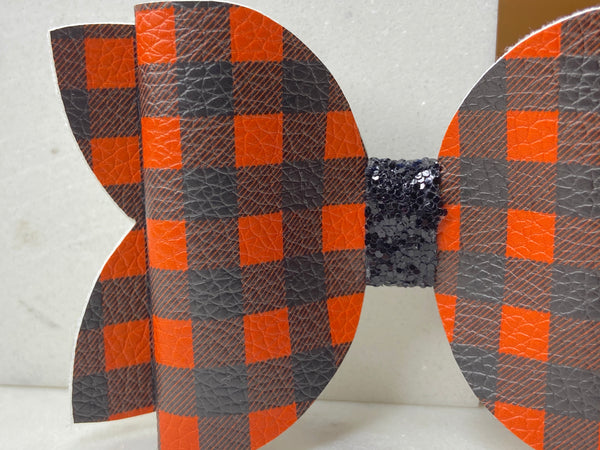 Black & Orange Buffalo Plaid