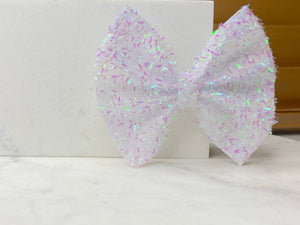 White iridescent tinsel